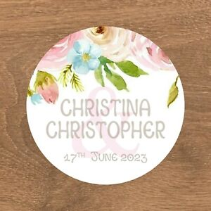 Personalised Wedding Stickers Favour Labels (E-026)