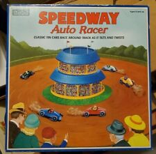 Schylling Speedway Auto Racer Wind Up Race Track Tin Toy Cars UNUSED