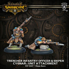 Warmachine: Cygnar Trencher Infantry Officer and Sniper Unit Attachment 31047
