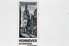23163 viaggio prospetto Hannover la città Gros nel verde 1930 incisioni Fränkel