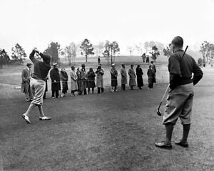 1934 Pro Golfers WALTER HAGEN & BOBBY JONES Glossy 8x10 Photo Masters Poster