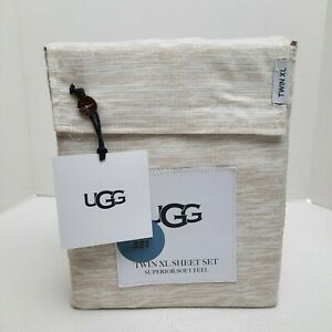 "UGG Twin XL Sheet 3 Pc Set OEKO-TEX STANDARD Superior Soft Cooling 18"" Deep NWT"