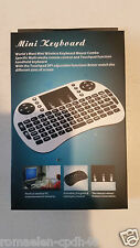 Mini Clavier Sans Fil 2.4 G QWERTY Wireless Keyboard PC Android TV Box PS3 Noir