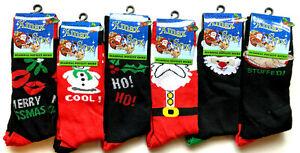 1 Pair Mens Christmas Socks Novelty sock Gifts Xmas Size 6-11 Cosy   Jsdigwa