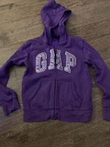 Girls Purple Gap Hoodie Age 10-12 Designer Kids Clothes