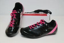 Louis Garneau Sienna Road Bike Shoes 41 9.5 Black Pink Women Lace Cycling 3-Bolt