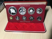 1978-Bahamas-9-Pc-Proof-S et-w-4-Silver-Coins-in-Ori ginal set ( Stock # 189)