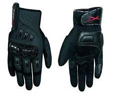 A-pro Guanti Moto professionali in Pelle con nocche rigide neri L