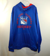 New York Rangers NHL Hockey Hooded Sweatshirt Hoodie Majestic Size Large L