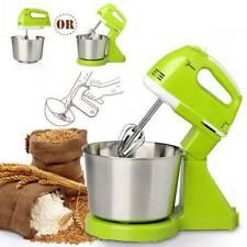 Electric Food Egg Hand Mixer Cake Dough Stand Blender Bowl Beater Plug 220V