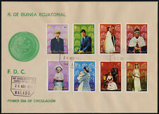 Equatorial Guinea MI 1333-40 on FDC - Queen Elizabeth 25th Anniv of Coronation