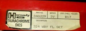 HORNADY 224 Weatherby FL Die Set  Series IV  040229 Durachrome