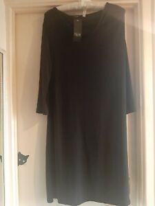 Size L Black Nicole Collection Dress