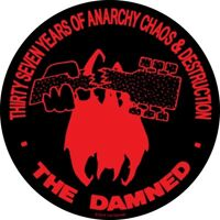 New circular Vinyl Sticker 12cm punk damned 37th goth new rose laptop car chaos