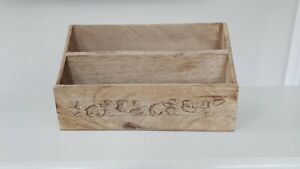 Wooden Letter Holder with 2slots approx 25x14x10 cm