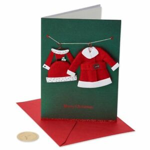 Papyrus Christmas Card to Husband or Wife His/Her Santa Suits A Perfect Match