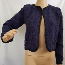 """COTTON ON"" -Size S - BNWT - 'Hilary Boucle Jacket' - Regal BLUE with Black Trim"