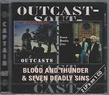 THE OUTCASTS - BLOOD AND THUNDER & SEVEN DEADLY SINS - (sealed cd) - AHOY CD 68