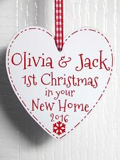 First Christmas In Your New Home - Personalised Tree Decoration Plaque 1st Xmas