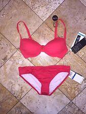 NWT Coco Reef Red Jewel UW Power Bra Swimsuit Bikini 2pc Set 32 34DD Womens XL