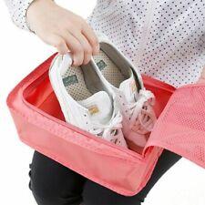 Pink Waterproof Travel Shoe Bag Sports Gym Carry Case Dustproof Storage Box Bowl