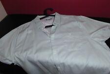 Men's Linea  Short Sleeve Shirt Mint Green Pure Cotton Large - Worn Once HOF