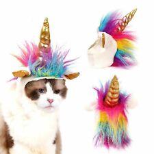 Soft Unicorn Horn Hat Adjustable Fun Fancy Dress Party Costume for Cat KItten