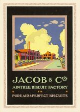 Jacob & Co - Factory, 1924, England, Vintage Grocery and Confectionery Poster