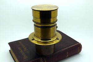 Vintage Brass No Name F3.4 140mm Petzval lens 4x5 speed graphic