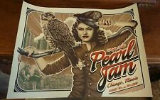 Pearl Jam Kunstdruck Siebdruck Poster  Chicago 2018 Selten Rar