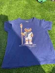 Ralph Lauren Boys T Shirt Size 4/4T Genuine