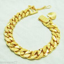 Men's Classic 22K 23K 24K THAI BAHT YELLOW GOLD PLATED Bracelet 8 inch