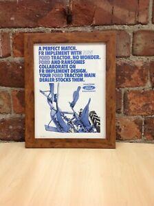 Framed Original Vintage Tractor Ford Equipment Ad from Farm Mechanization 1965