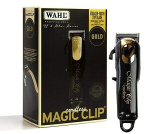 Wahl Cordless Magic Clip Black Gold #8148-100 FADE Clipper 110-220 Volt 50/60 Hz