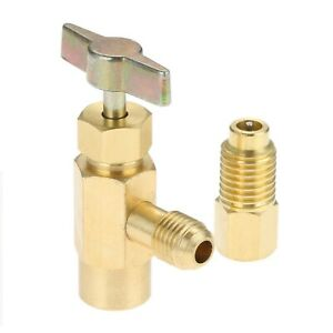 Self-Sealing Refrigerant Bottle Opener W/ R134A Tank Adapter Can Tap Durable New