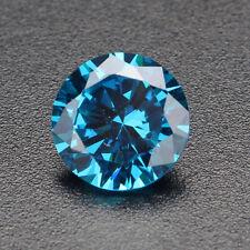 Non Chauffé 6.22CT 10mm Naturel Blueu Saphir Rond Gemme Pierres Précieuse Bijoux