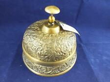 Large Vintage Hotel Reproduction Brass Desk Bell.