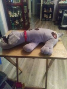 "Vintage 1985 TONKA 18"" Plush POUND PUPPY Gray Brown Large Stuffed Animal Toy"