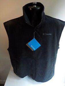 "COLUMBIA ""Cathedral Peak Vest"" Fleece/Polyester  Black SZ XL  NWT"