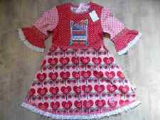 Mim-pi magnifique robe rose rouge Sweet Pea Taille 116 NEUF st817