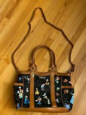 Disney Character Bradford Exchange Bag, Tote, Purse with Tinkerbell charm New