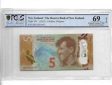 New Zealand/The Reserve Bank of New Zealamd Pick#191 2015 5 Dollars PCGS 69 OPQ