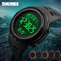 Men Digital Sport Led Military Waterproof Electronic Wrist Watch Alarm Stopwatch