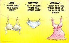 POSTCARD  COMIC   BAMFORTH   Bra  Panties  Nightie