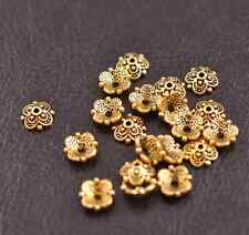 100Pcs Tibetan Silver Flower Bead Caps Spacer beads Charms Findings A3113