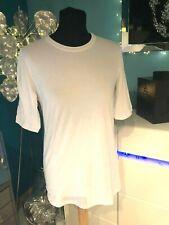 Brunello Cucinelli Luxus Shirt Weiß XXL/42-44 Stretch Metalldetails Halbarm NEU