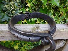 Iron steel collar shackles handmade by blacksmiths unique set