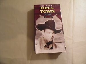 Hell Town (Used VHS Tape) John Wayne / Free Domestic Shipping