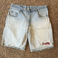 Atlanta Braves Denim Shorts 36 Waist Light Wash Jean Genuine Henry Aaron Inc