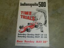 1977 INDIANAPOLIS 500 TIME TRIAL POSTER VINTAGE